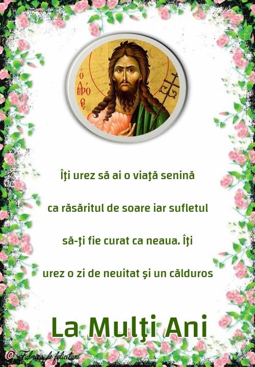 Felicitari de Sfantul Ioan - La Mulţi Ani
