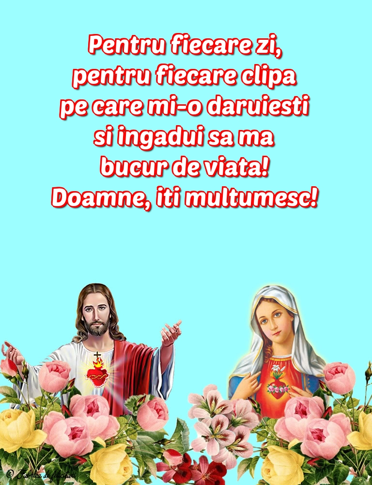 Imagini religioase - Doamne, îți mulțumesc!