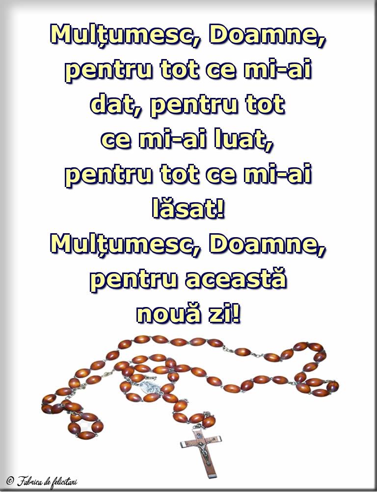 Imagini religioase - Mulțumesc, Doamne, pentru această nouă zi!