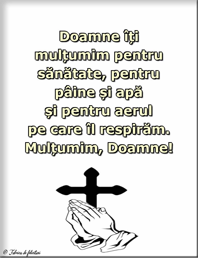 Imagini religioase - Mulțumim, Doamne!