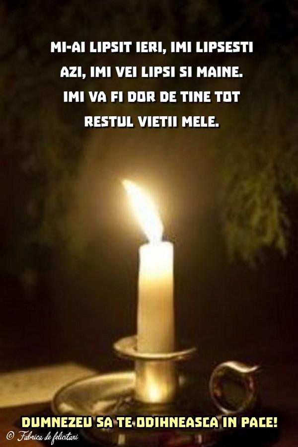 Imagini de Comemorare - Dumnezeu să te odihnească în pace!