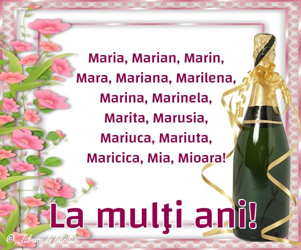 Felicitari de Sfânta Maria Mică - La mulţi ani!
