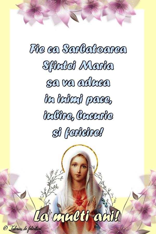 Felicitari de Sfânta Maria Mică - La mulți ani!