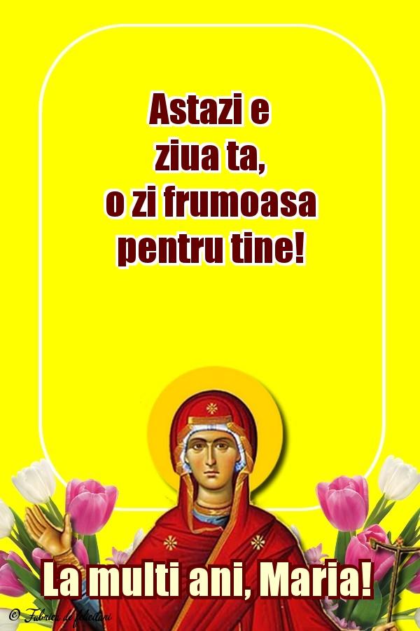 Felicitari de Sfânta Maria Mică - La mulți ani, Maria!