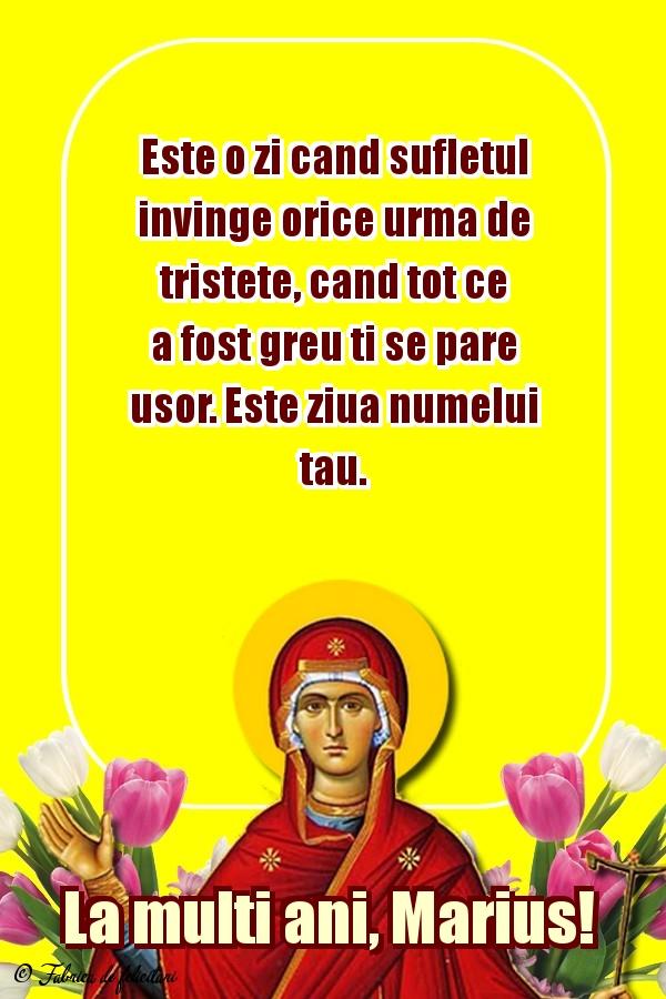 Felicitari de Sfânta Maria Mică - La mulţi ani, Marius!